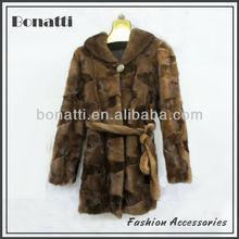 Lady's fashion design mink fur coat
