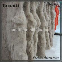 High quality lady's rabbit fur coat and vest