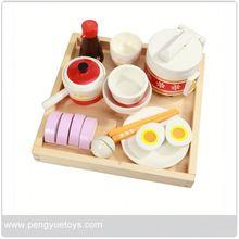 de madera de estilo chino de utensilios de cocina juguetes