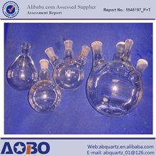 clear quartz glass flask/quartz apparatus(one-joint quartz flask,four-neck glass flask)