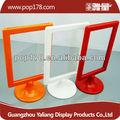 guangzhou fábrica al por mayor de vidrio plexi de metacrilato de plástico marco de fotos con soporte de mesa marcos abs
