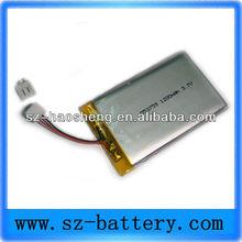 high capacity li-polymer battery 503759 3.7V 1200MAH