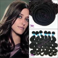 Wholesale natural black color 100% human virgin hair weave 3 bundles brazilian body wave