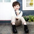 Crianças roupas de outono criança roupas de algodão combinação de cores para meninos t-shirt tb1071