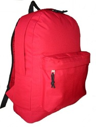 """18"""" classic polyester backpack, Inventory available at Los Angeles warehouse."""