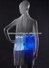 Wholesale New Fashion Optic Fibre Fabric Suppliers Magic Luminous Ladies Wrap Shawl LED Scarf Long China
