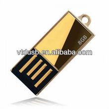 Metal texture reflective mini clip USB flash drive /drives/driver/disk/memory/pendrive/stick