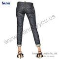 Salcar impreso capri jeans muchacha de mezclilla mujeres del verano vaqueros para francia mercado de venta al por mayor proveedor