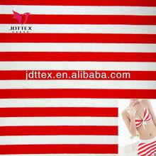 Maiden archetype red white striped bikini fabric, swimwear fabric