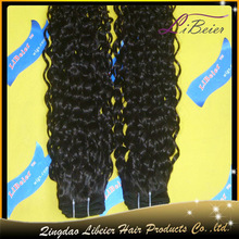 high quality hot sale curly color #1 20inch raw virgin hair indian