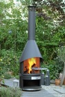 Mobile Stainless Steel Fireplace