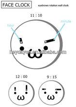 eyebrows rotation wall clock(HD-6005E)