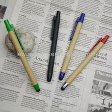 ECO Recycled pape stylus pen,clip top stylus pen, silicone tip stylus pen, capactive point tip stylus pen