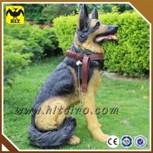 Fiberglass Animal Model Dog Model with True Fur