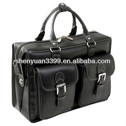 Men's leather briefcase/attache case/business bag briefcase