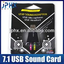 Virtual 7.1 USB2.0 Sound Card Audio Adapter for Skype MSN Headset
