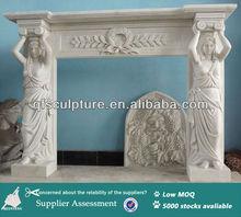 Italian Style Stone Statue Fireplace Mantel