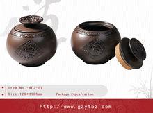 Folk art airtight tea storage