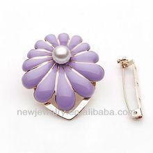 A068 Shimmering Enamel Flower Women's Brooch