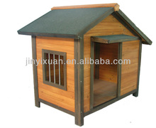 Outdoor Wooden House with Slanted & Weatherproof Roof for Dogs / Dog Kennel
