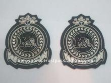 Pakistan Sew-On Rhinestones Decorated Embroidered Metal Badges