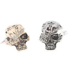women unique skull rings fashion Halloween jewelry