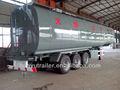 De acero inoxidable de aceite/del tanque de combustible semi remolque