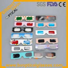 Cheap promotional paper 3D glasses