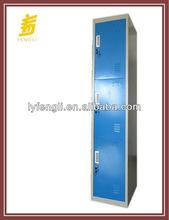 Blue 3 Door Metal Design Wall Cupboard with lock