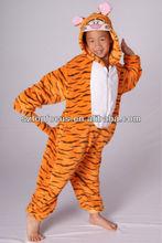 Character Apparel Children Kids Animal Onesie Fleece Pajamas Tiger Costume