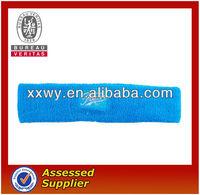 Blue custom sport cotton headband/cotton sweatband