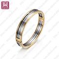 la moda de aceroinoxidable hermosa brazalete de joyería de plata y oro