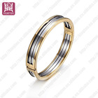 fashion beautiful stainless steel jewelry bangle silver and gold