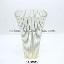 EA0001V elegant design clear resin flower vase
