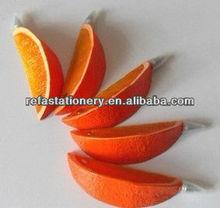 cutted orange shaped pen