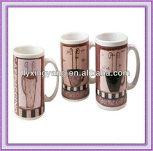 2013 new ceramic mug with coffee printings /blank ceramic mugs bulk/cheap ceramic mugs
