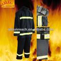 traje de bombero con fibra de aramida tela