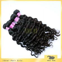 100% virgin peruvian deep wave with natrual organic hair color