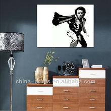Boy with Gun Pop Art Canvas