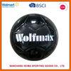 black soccer ball with logo printing