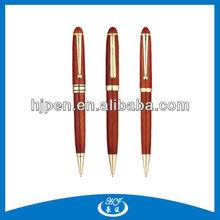 Novelty Design Twist Metal Ballpoint Pen Wood Gold Pen