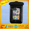 For beach cell phone pvc waterproof fashion bag for iphone 4 with neck strap