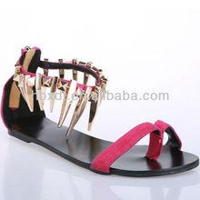 2013 new design girls fashion sandals ladies fashion flat sandals