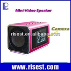 Long Time Recording Mini Speaker Camera Hidden for Indoor Security