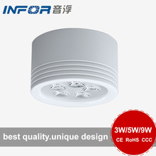 shenzhen factory 3w 5w 9w round white led downlight
