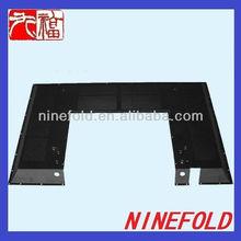 Custom sheet metal case fabrication with black powder coating