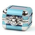 de moda marco de aluminio de acrílico exhibición de la joyería reloj de almacenamiento caso cosmético
