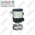 lpaj12 eléctrico de la válvula de bola de acero inoxidable válvula de bola