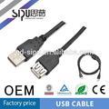 Sipu alta qualidade usb 2.0 extensão duplo painel de montagem do cabo