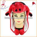 ขนสีแดงหมวกวัวกับวัวแตร